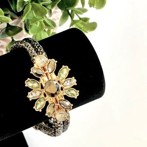BANANA REPUBLIC snake skin & gemstone bracelet NWT